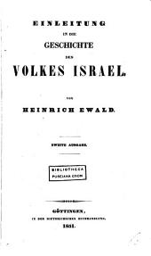 Geschichte des Volkes Israel bis Christus. Bd. 1,2 [and] Anhang, 3, 5. Bd. 1, 4, 6,7, Anhang zum 2en und 3en Bde