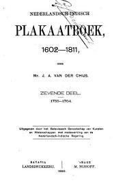 Nederlandsch-Indisch plakaatboek, 1602-1811: Volume 7