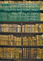 Debates  Rhetoric and Political Action PDF