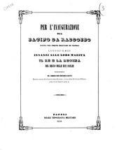 Per l'inaugurazione del bacino da raddobbo fatta nel porto militare di Napoli il di 15. d'agosto del 1852... discorso del commendatore Bernardo Quaranta
