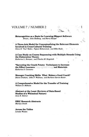 Performance Improvement Quarterly Volume 7 Number 2 1994