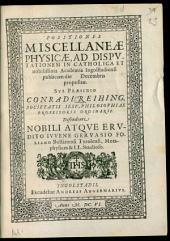 Positiones miscellaneae physicae