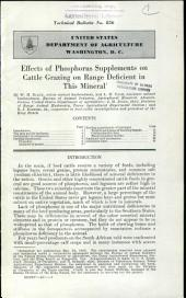 Effects of phosphorus supplements on cattle grazing on range deficient in this mineral: Volumes 851-875