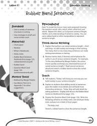 Writing Lesson Level 3 Sentences Length Variety Book PDF