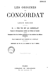 Les origines du Concordat: Volume 2
