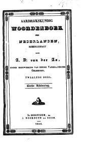 Aardrijkskundig woordenboek der Nederlanden: Volume 12