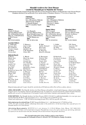 Monaldi Archives for Chest Disease PDF