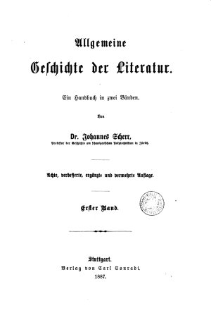 Allgemeine Geschichte der Literatur PDF