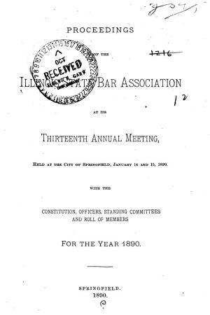 Proceedings of the Illinois State Bar Association PDF