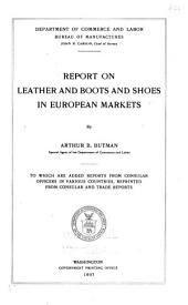 Report on Leather and Boots and Shoes in European Markets: Issues 14-23