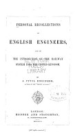Personal Recollections of English Engineers  and of the Introduction of the Railway System Into the United Kingdom PDF