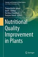 Nutritional Quality Improvement in Plants PDF