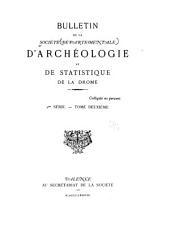 Bulletin d'archéologie et de statistique de la Drôme: Volume22