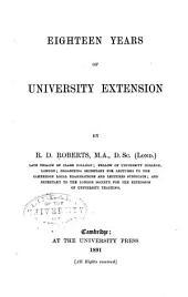 Eighteen Years of University Extension