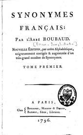 Synonymes français: Volume1