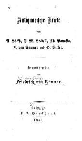 Antiquarische briefe