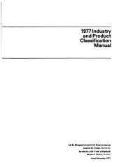 1977 Industry and Product Classification Manual