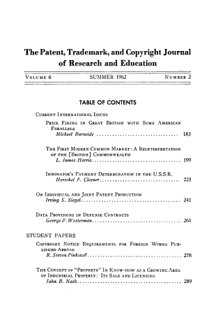 The Patent  Trade mark  and Copyright Journal of Research and Education PDF