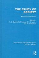 The Study of Society  RLE Social Theory  PDF
