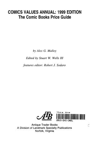 Comics Values Annual 1999 PDF