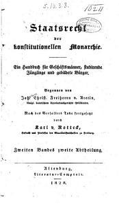 Staatsrecht der konstitutionellen monarchie     PDF