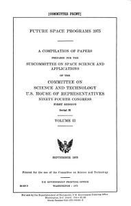 Future Space Programs 1975 PDF