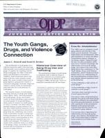 The Youth Gangs  Drugs  and Violence Connection PDF