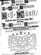 Teutsch redender Euclides oder acht Bücher von denen Anfängen der Meß-Kunst