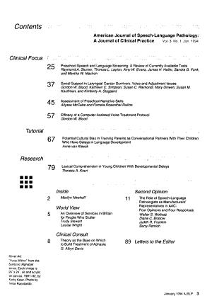 American Journal of Speech language Pathology PDF