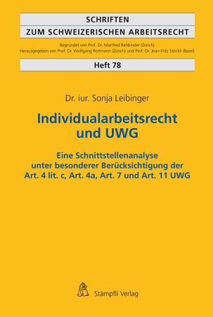 Individualarbeitsrecht und UWG PDF