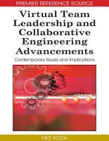 Virtual Team Leadership and Collaborative Engineering Advancements  Contemporary Issues and Implications PDF