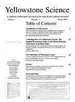 Yellowstone Science PDF