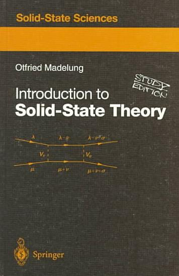 Introduction to Solid State Theory PDF