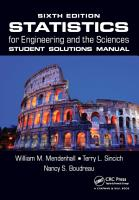 Statistics for Engineering and the Sciences Student Solutions Manual PDF