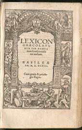Lexicon Graecolatinum