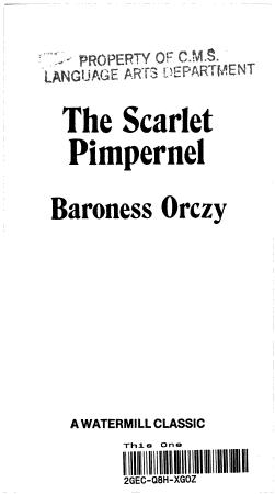 The Scarlet Pimpernel PDF