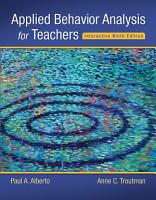 Applied Behavior Analysis for Teachers Interactive Ninth Edition PDF