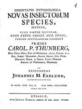 Diss. entomol. novas insectorum species sistens
