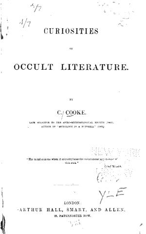 Curiosities of Occult Literature