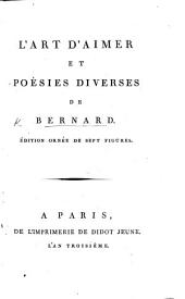 L'Art d'aimer, et poésies diverses de M. Bernard. With plates
