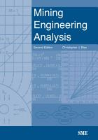 Mining Engineering Analysis PDF