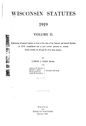 Wisconsin Statutes: Volume 2