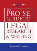 The Pro Se Guide to Legal Research and Writing PDF
