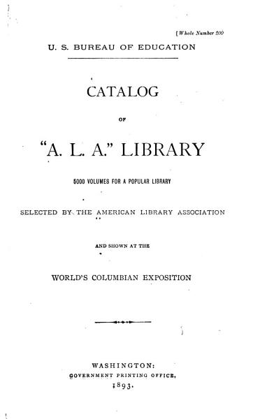 Download A L A  Catalog Book