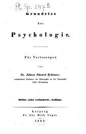 Grundriss der Psychologie: Für Vorlesungen