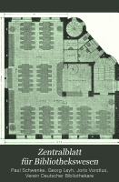 Zentralblatt f  r Bibliothekswesen PDF