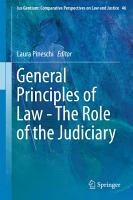 General Principles of Law   The Role of the Judiciary PDF