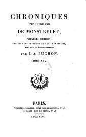 Chroniques ; Tome XIV.: Volume39