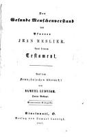 Der gesunde Menschenverstand von Pfarrer Jean Meslier PDF