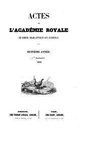 Actes de l'Académie royale des sciences, belles-lettres et arts de Bordeaux: Volume8